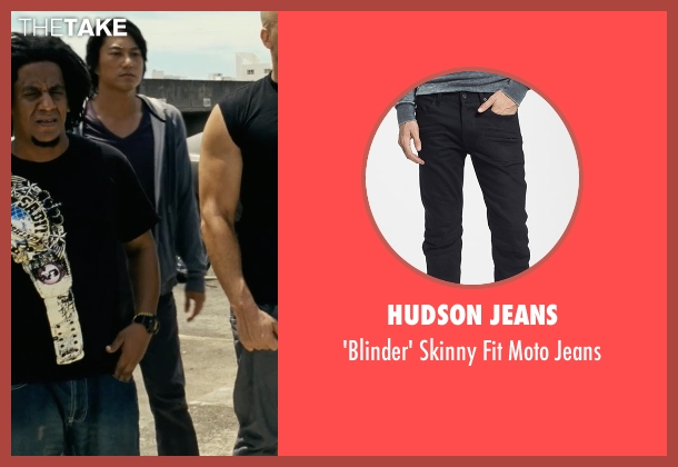 Hudson Jeans black jeans from Fast Five seen with Sung Kang (Han)