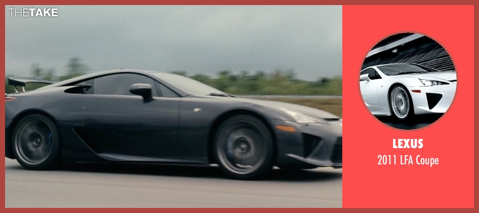 Lexus coupe from Fast Five seen with Sung Kang (Han)
