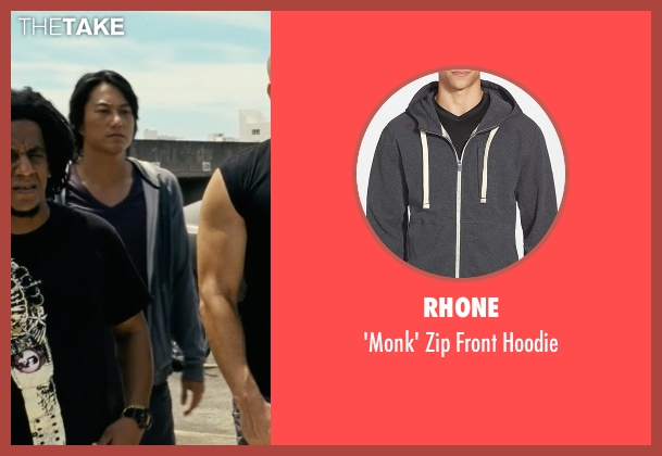 Rhone gray hoodie from Fast Five seen with Sung Kang (Han)