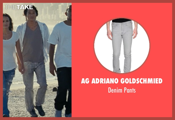 AG Adriano Goldschmied gray pants from Fast Five seen with Sung Kang (Han)