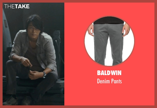 Baldwin gray pants from Fast Five seen with Sung Kang (Han)