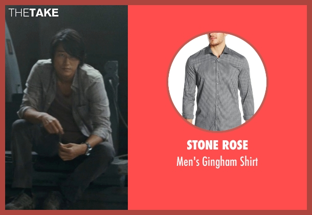Stone Rose gray shirt from Fast Five seen with Sung Kang (Han)