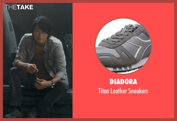 Diadora gray sneakers from Fast Five seen with Sung Kang (Han)