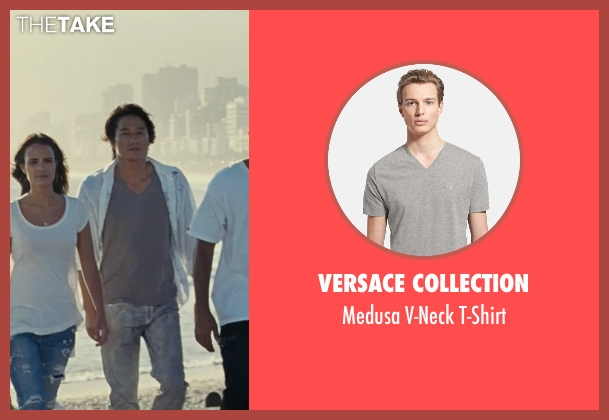 Versace Collection gray t-shirt from Fast Five seen with Sung Kang (Han)