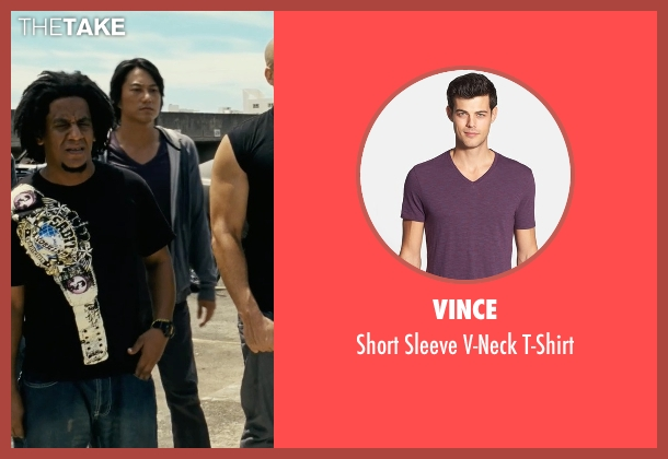 Vince purple t-shirt from Fast Five seen with Sung Kang (Han)