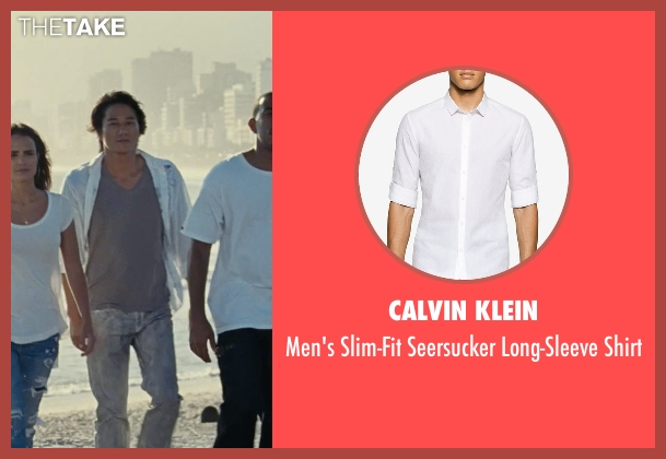 Calvin Klein white shirt from Fast Five seen with Sung Kang (Han)