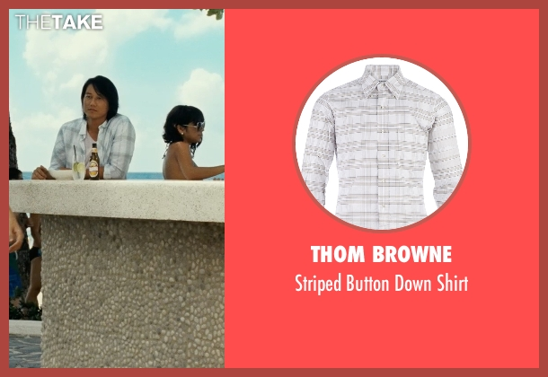 Thom Browne white shirt from Fast Five seen with Sung Kang (Han)