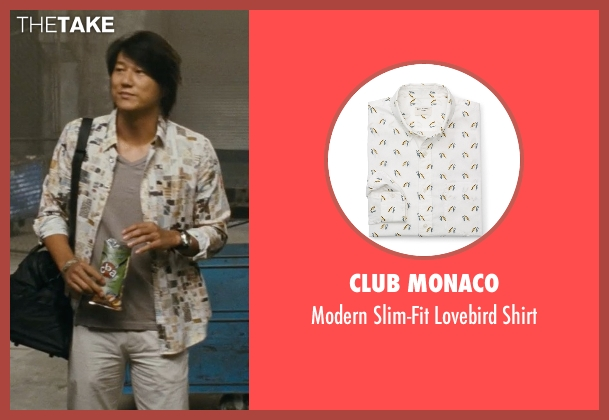 Club Monaco white shirt from Fast Five seen with Sung Kang (Han)