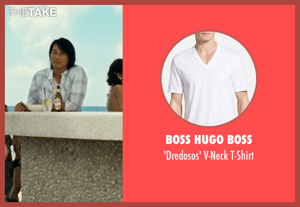 Boss Hugo Boss white t-shirt from Fast Five seen with Sung Kang (Han)