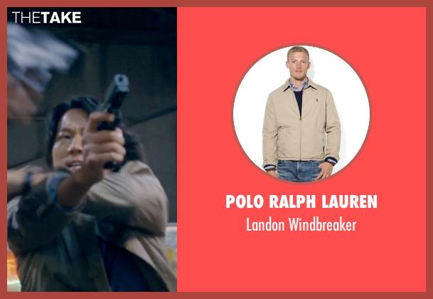 Polo Ralph Lauren beige windbreaker from Fast & Furious 6 seen with Sung Kang (Han)