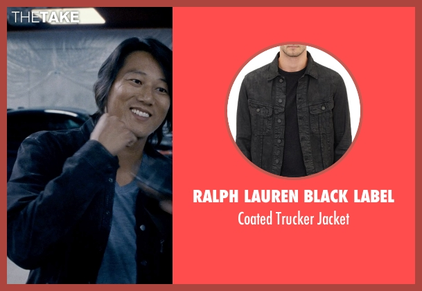 Ralph Lauren Black Label black jacket from Fast & Furious 6 seen with Sung Kang (Han)
