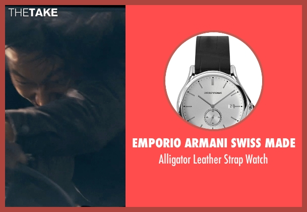 Emporio Armani Swiss Made black watch from Fast & Furious 6 seen with Sung Kang (Han)