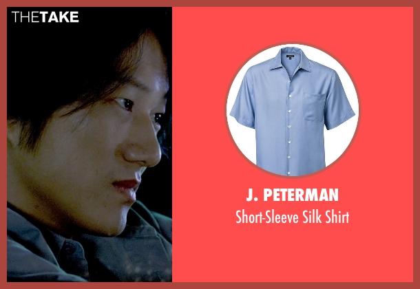 J. Peterman blue shirt from Furious 7 seen with Sung Kang (Han)