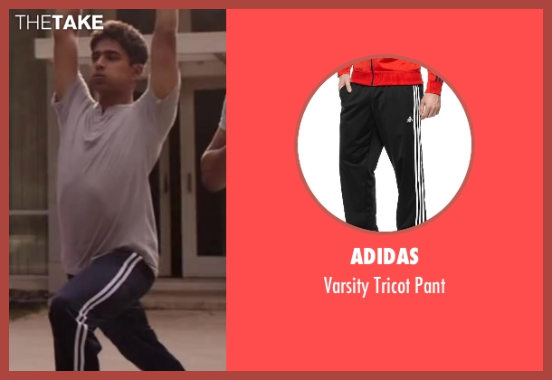 Adidas black pant from Million Dollar Arm seen with Suraj Sharma (Rinku)