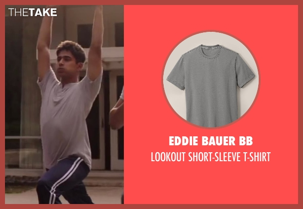 Eddie Bauer BB gray t-shirt from Million Dollar Arm seen with Suraj Sharma (Rinku)