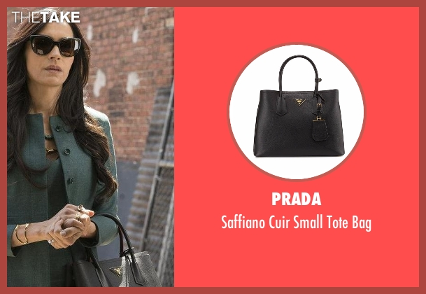 Prada black bag from The Blacklist seen with Susan Hargrave (Famke Janssen)