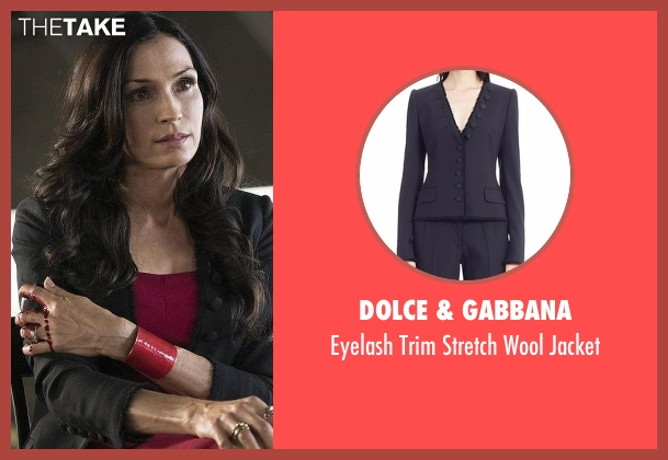 Dolce & Gabbana black jacket from The Blacklist seen with Susan Hargrave (Famke Janssen)
