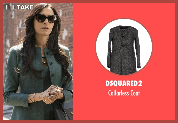 DSquared2 gray coat from The Blacklist seen with Susan Hargrave (Famke Janssen)