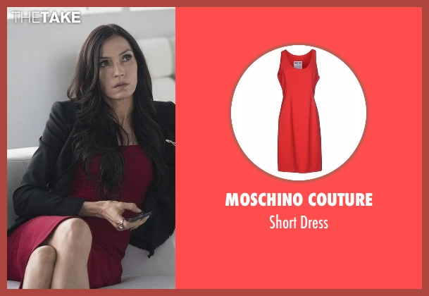 Moschino Couture red dress from The Blacklist seen with Susan Hargrave (Famke Janssen)