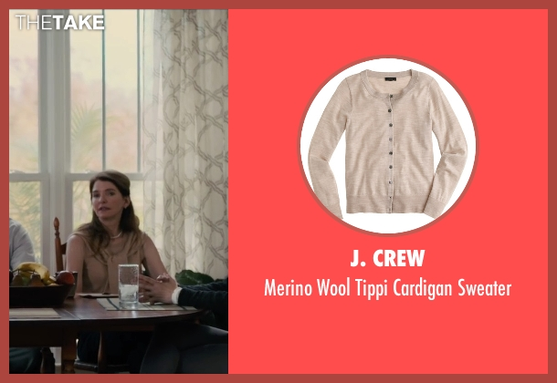 J. Crew beige sweater from Paper Towns seen with Susan Macke Miller (Mrs. Spiegelman)