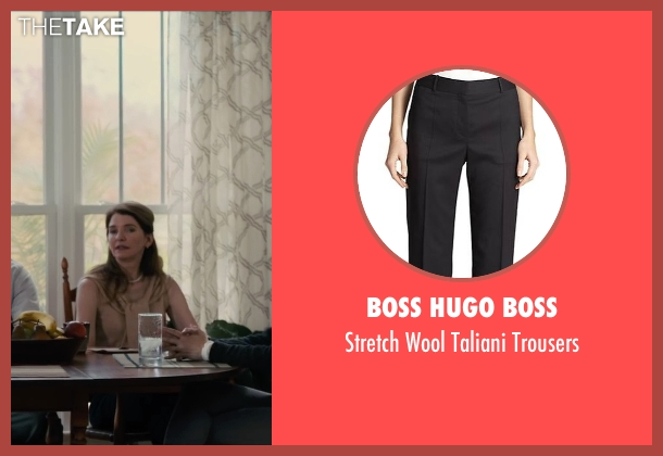 Boss Hugo Boss black trousers from Paper Towns seen with Susan Macke Miller (Mrs. Spiegelman)