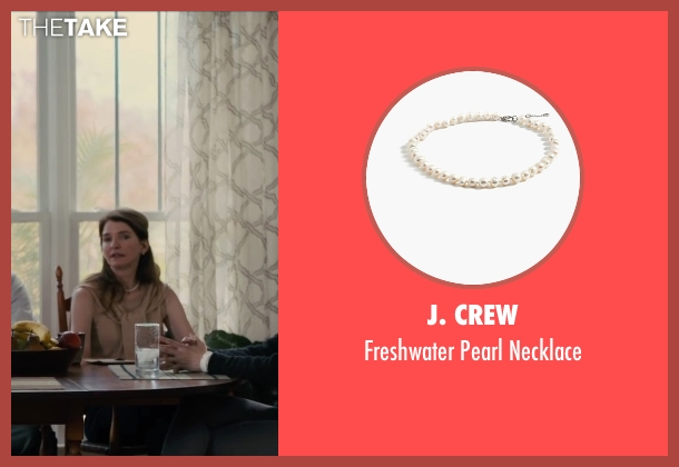 J. Crew white necklace from Paper Towns seen with Susan Macke Miller (Mrs. Spiegelman)