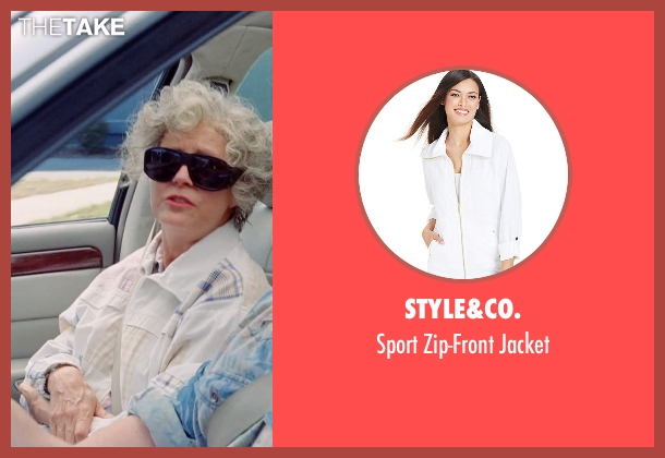 Style&co. white jacket from Tammy seen with Susan Sarandon (Pearl)