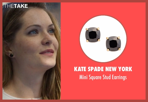 sutton brady 39 s black kate spade new york mini square stud earrings from the bold type season 1. Black Bedroom Furniture Sets. Home Design Ideas