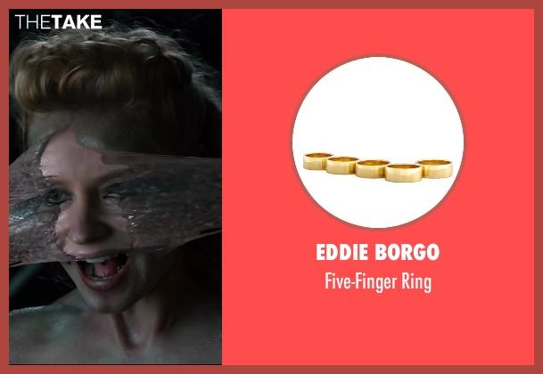 Eddie Borgo gold ring from The Wolverine seen with Svetlana Khodchenkova (Viper)