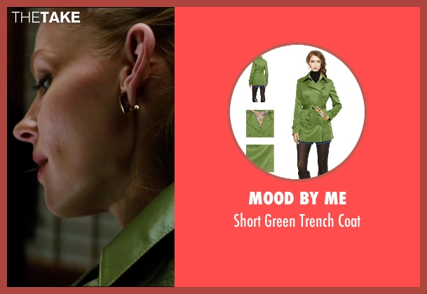 Mood By Me green coat from The Wolverine seen with Svetlana Khodchenkova (Viper)