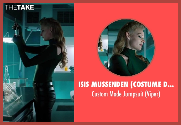 Isis Mussenden (Costume Designer) green jumpsuit from The Wolverine seen with Svetlana Khodchenkova (Viper)