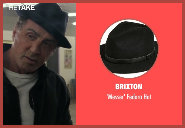 Brixton black hat from Creed seen with Sylvester Stallone (Rocky Balboa)
