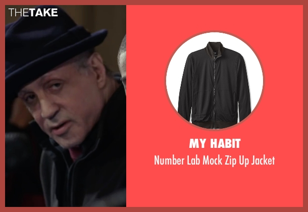 My Habit black jacket from Creed seen with Sylvester Stallone (Rocky Balboa)