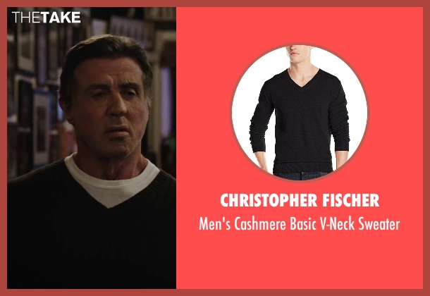 Christopher Fischer black sweater from Creed seen with Sylvester Stallone (Rocky Balboa)