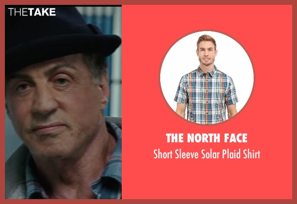 The North Face blue shirt from Creed seen with Sylvester Stallone (Rocky Balboa)
