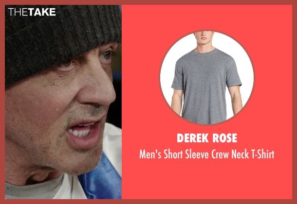 Derek Rose gray t-shirt from Creed seen with Sylvester Stallone (Rocky Balboa)