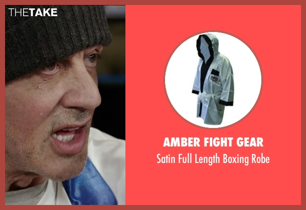 Amber Fight Gear robe from Creed seen with Sylvester Stallone (Rocky Balboa)