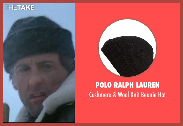 Polo Ralph Lauren black hat from Rocky IV seen with Sylvester Stallone (Rocky Balboa)
