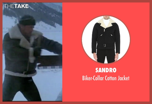 Sandro black jacket from Rocky IV seen with Sylvester Stallone (Rocky Balboa)