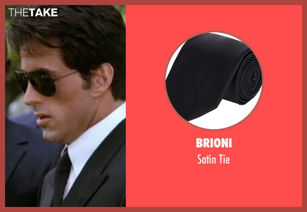 Brioni black tie from Rocky IV seen with Sylvester Stallone (Rocky Balboa)