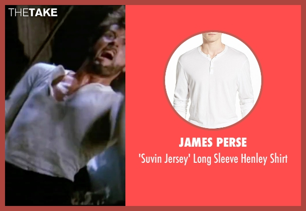 James Perse white shirt from Rocky IV seen with Sylvester Stallone (Rocky Balboa)