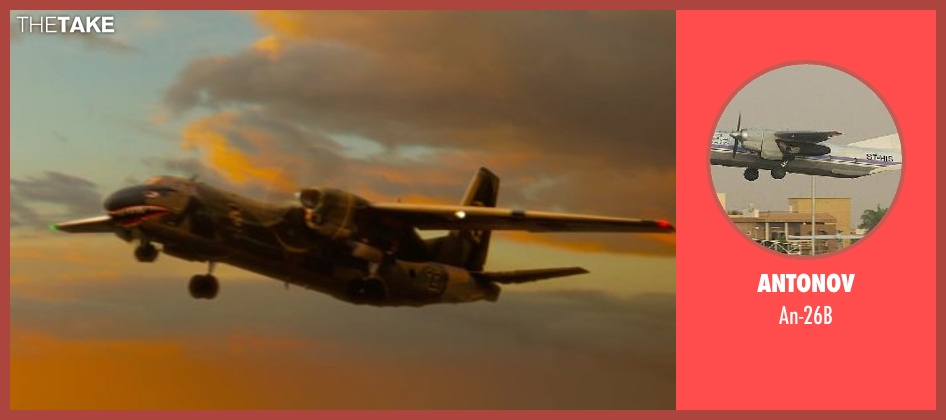Antonov an-26b from The Expendables 3 seen with Sylvester Stallone (Barney Ross)
