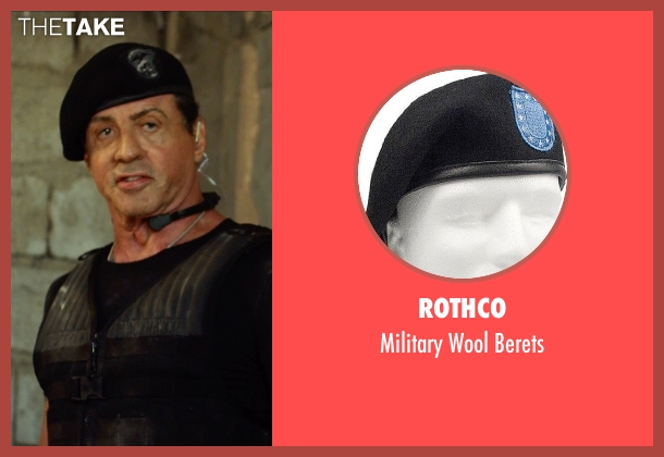 Rothco berets from The Expendables 3 seen with Sylvester Stallone (Barney Ross)