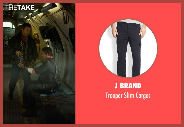 J Brand black cargos from The Expendables 3 seen with Sylvester Stallone (Barney Ross)