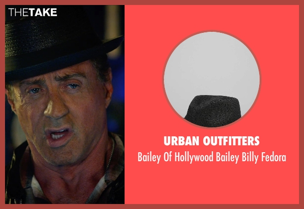Urban Outfitters black fedora from The Expendables 3 seen with Sylvester Stallone (Barney Ross)
