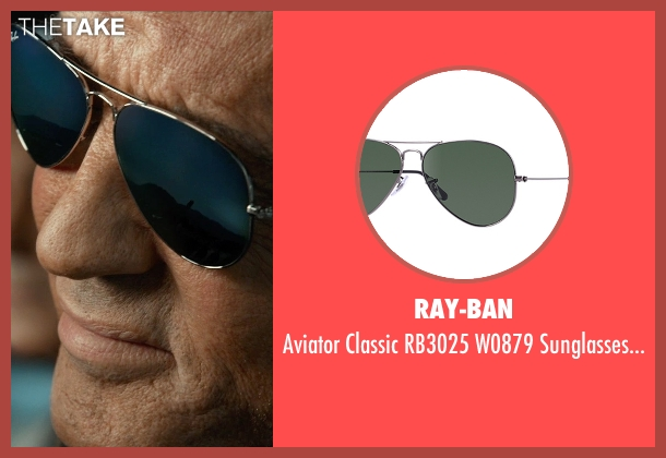 Ray-Ban black sunglasses from The Expendables 3 seen with Sylvester Stallone (Barney Ross)