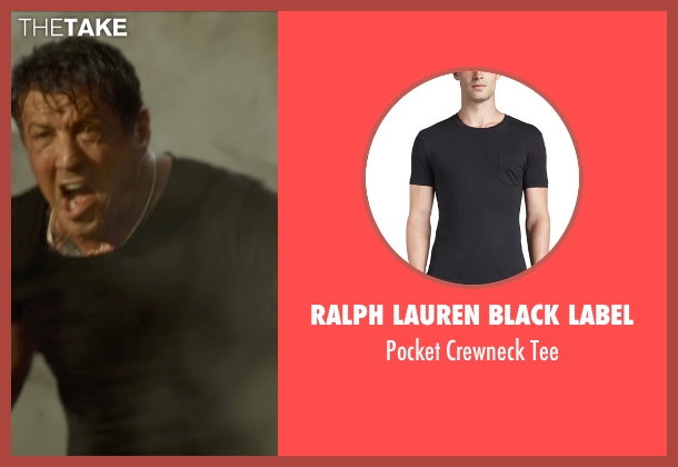Ralph Lauren Black Label black tee from The Expendables 3 seen with Sylvester Stallone (Barney Ross)