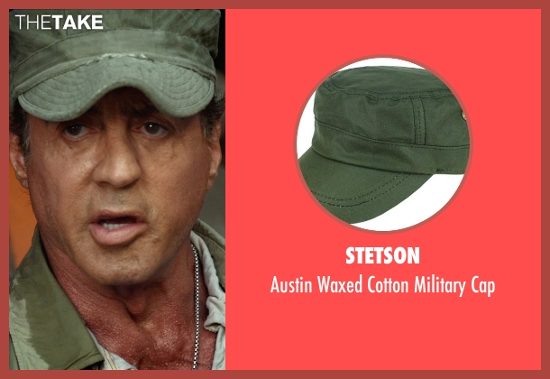 Stetson green cap from The Expendables 3 seen with Sylvester Stallone (Barney Ross)