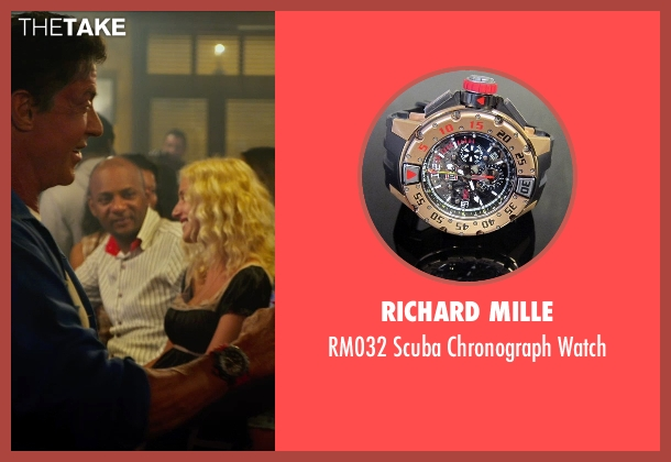 Richard Mille watch from The Expendables 3 seen with Sylvester Stallone (Barney Ross)