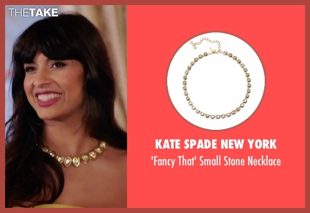 Kate Spade New York gold necklace from The Good Place seen with Tahani Al-Jamil (Jameela Jamil)